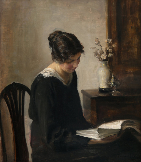 Carl Vilhelm Holsøe, Lady in Black - The Culturium