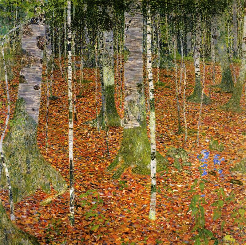 Gustav Klimt, Birch Trees - The Culturium