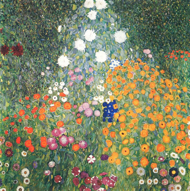 Gustav Klimt, Flower Garden - The Culturium