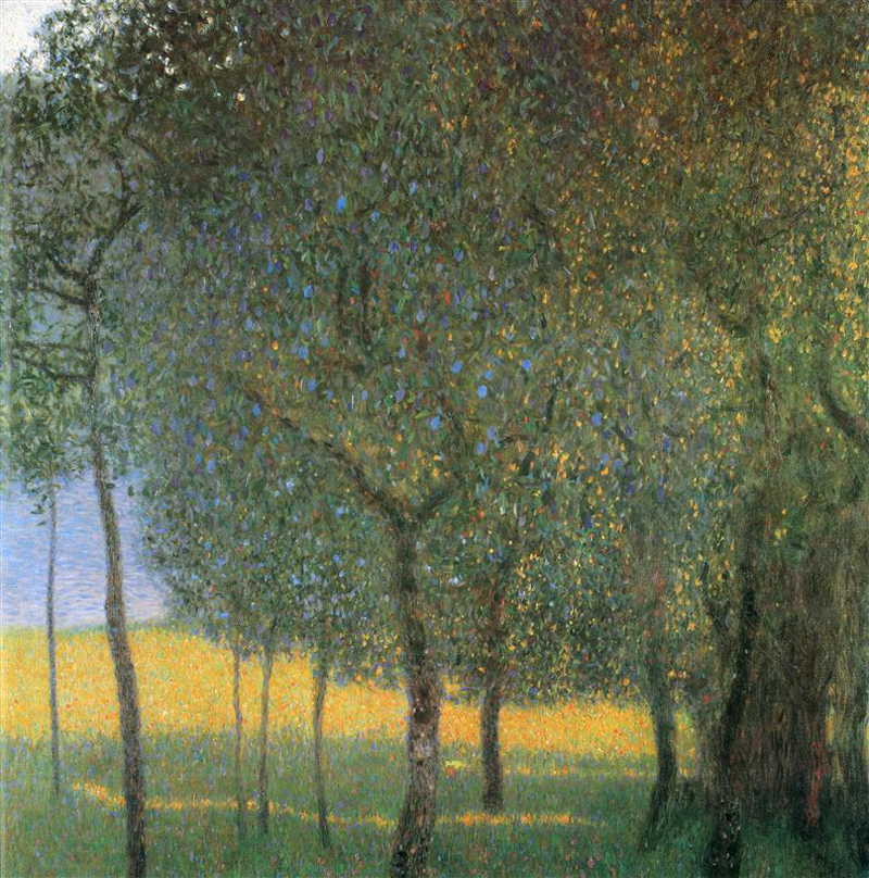 Gustav Klimt, Fruit Trees - The Culturium