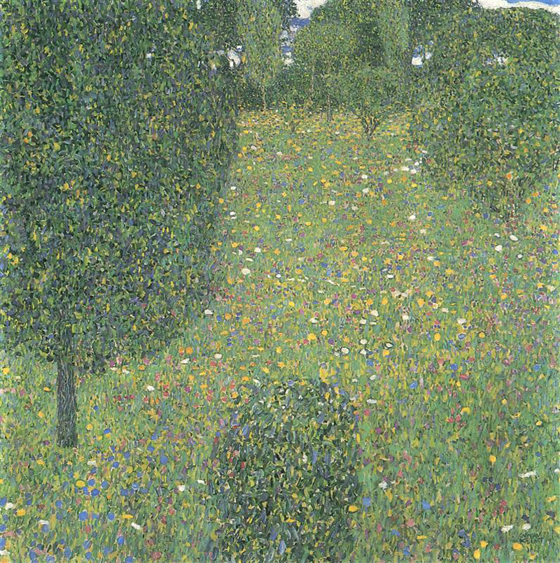 Gustav Klimt, Landscape Garden Meadow in Flower - The Culturium
