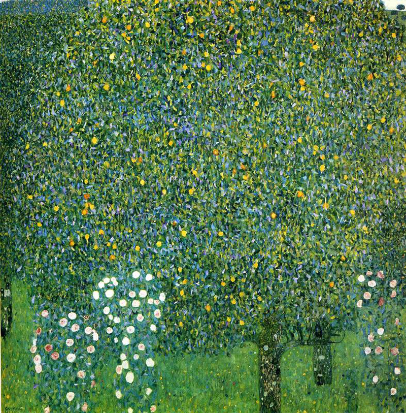 Gustav Klimt, Roses Under the Trees - The Culturium