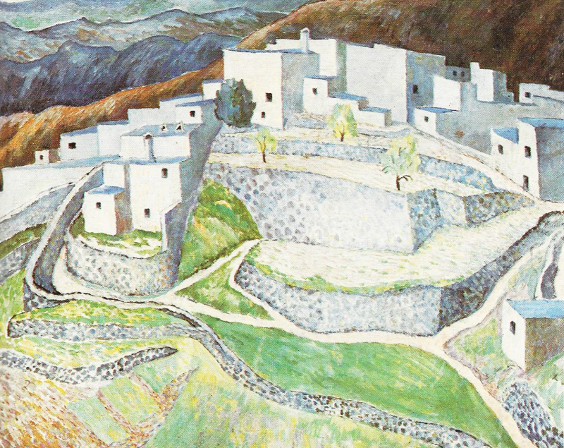 Dora Carrington, Hill Town in Andalusia - The Culturium