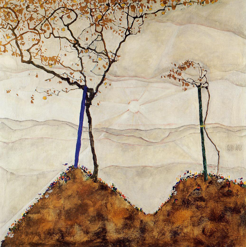 Egon Schiele, Autumn Sun - The Culturium