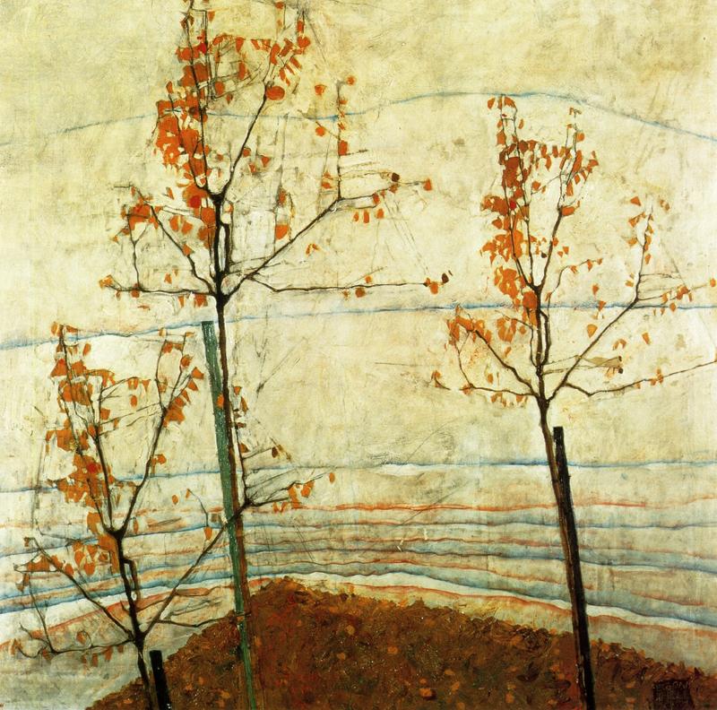 Egon Schiele, Autumn Trees - The Culturium