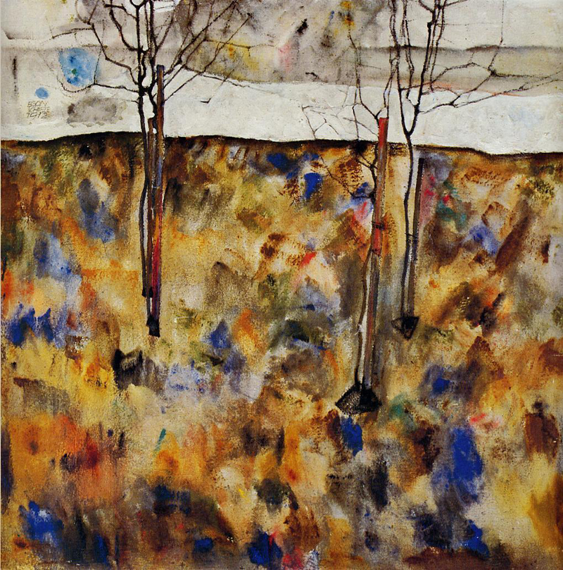 Egon Schiele, Winter Trees - The Culturium