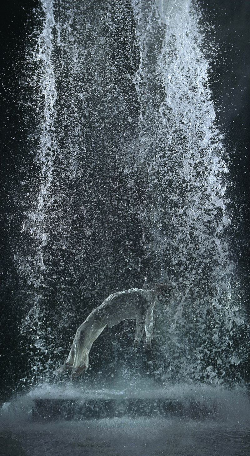 Bill Viola, Tristan's Ascension (The Sound of a Mountain Under a Waterfall), 2005 - The Culturium