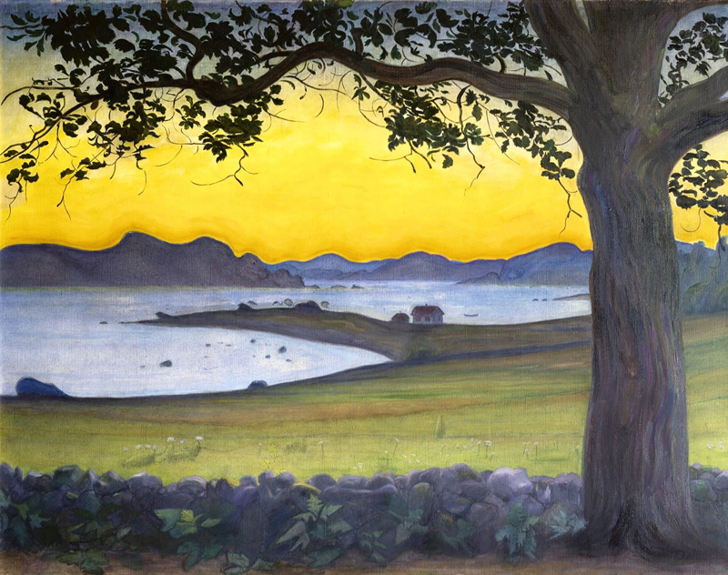 Harald Oskar Sohlberg, From Værvågen. The Fisherman's Cottage - The Culturium