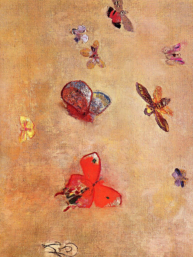 Odilon Redon, Butterflies - The Culturium