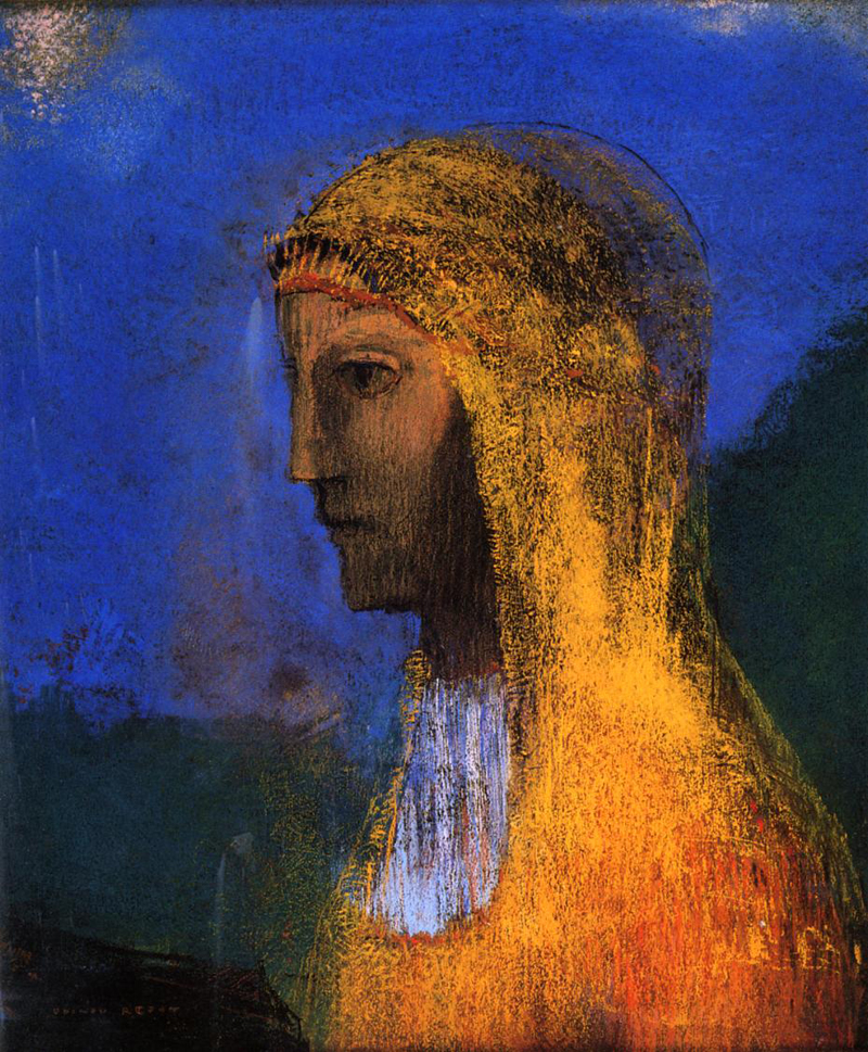 Odilon Redon, The Druidess - The Culturium