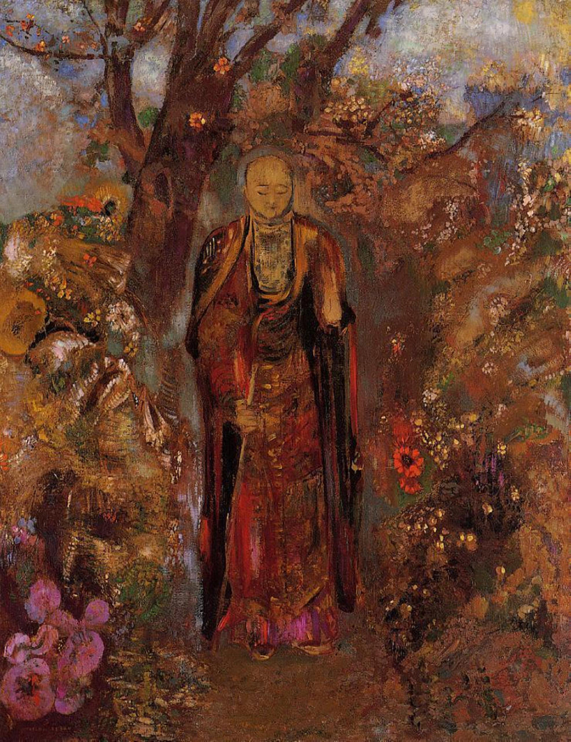 Odilon Redon, Buddha Walking Among the Flowers - The Culturium