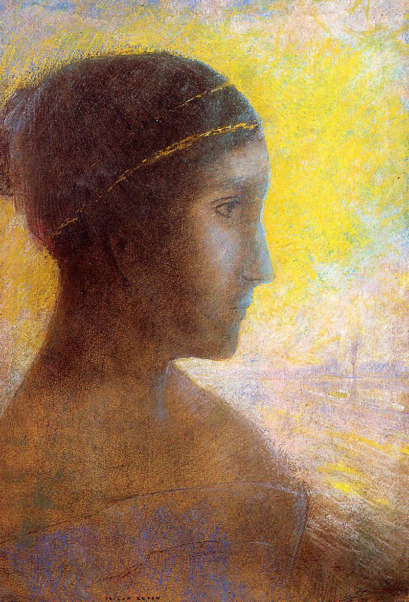 Odilon Redon, Head of a Young Woman in Profile - The Culturium