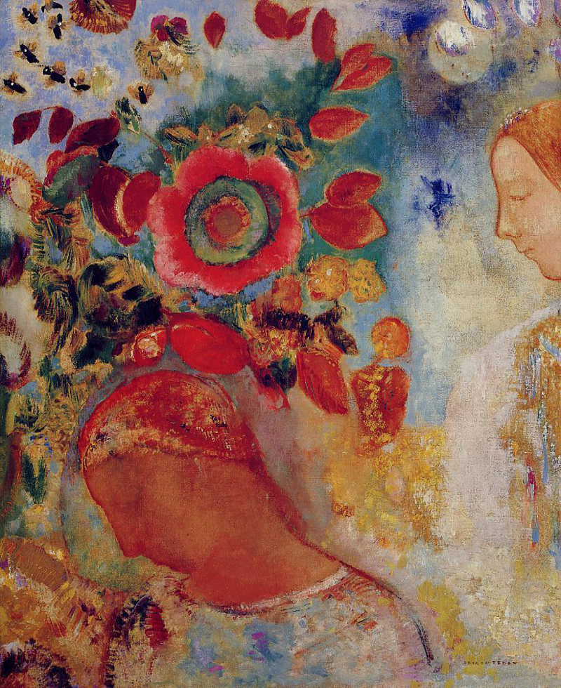 Odilon Redon, Two Young Girls Among Flowers - The Culturium