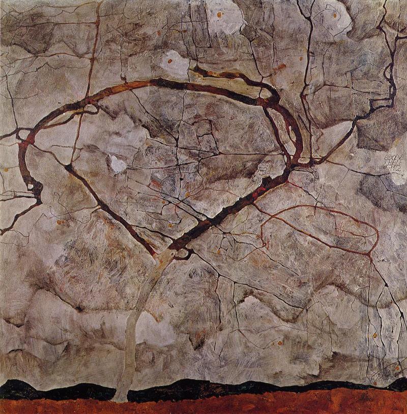 Egon Schiele, Autumn Tree in Movement - The Culturium
