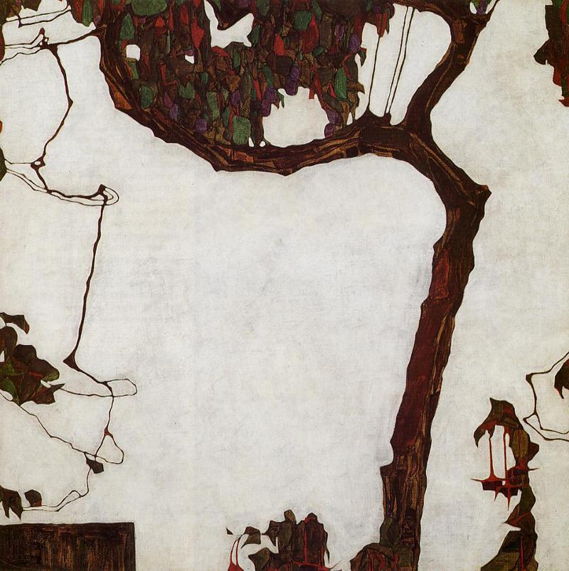 Egon Schiele, Autumn Tree With Fuchsias - The Culturium