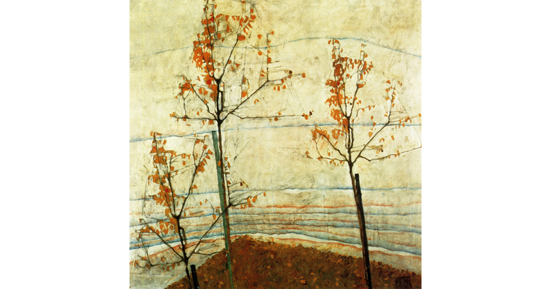 Egon Schiele, Autumn Trees - The Culturium