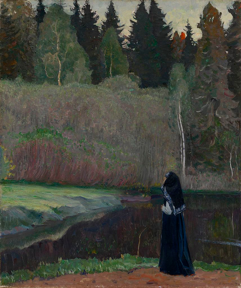 Mikhail Nesterov, The Nightingale is Singing - The Culturium