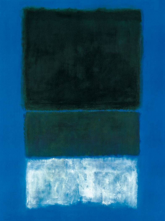 Mark Rothko, No. 14, White and Greens in Blue - The Culturium