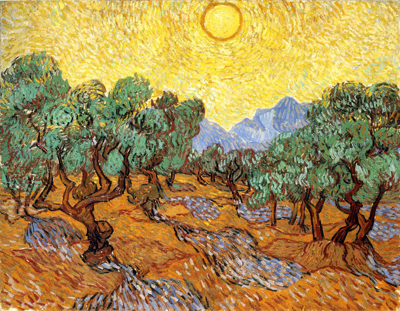 Vincent van Gogh, Olive Trees With Yellow Sky and Sun - The Culturium